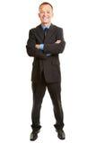 Odosobnionego pełnego ciała biznesowy mężczyzna obraz royalty free
