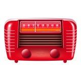 odosobnionego radia czerwony rocznika biel Obrazy Royalty Free