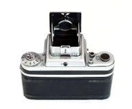 Odosobnionego rocznika formata środkowa kamera - tylny widok zdjęcia royalty free
