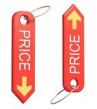 odosobnionej ceny czerwony błyskotki biel Obraz Stock