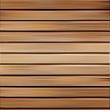 Odosobnionej realistycznej bezszwowej drewnianej tekstury wektorowa ilustracja, horyzontalny deski tło Zdjęcia Stock
