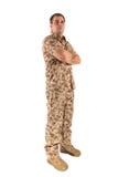 odosobniony żołnierz Fotografia Royalty Free