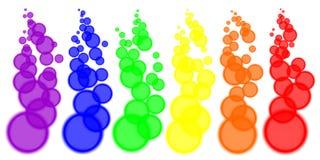 Kolory zamazujący okręgi Fotografia Royalty Free