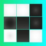 Odosobniony abstrakcjonistyczny w kratkę wektorowy tło Czarny i biały kwadrata tło Fotografia Royalty Free