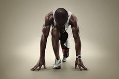 Odosobniony atleta biegacz Fotografia Royalty Free