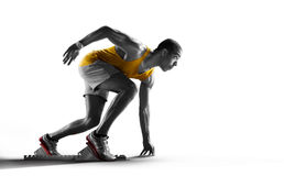 Odosobniony atleta biegacz zdjęcia stock