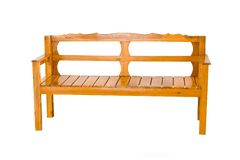 odosobniony ławki drewno Obraz Royalty Free
