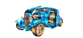 Odosobniony błękitny gorący prącie na białym tle Fotografia Stock