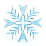Odosobniony błękitny płatek śniegu Zdjęcia Stock