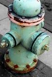 Odosobniony Błękitny Pożarniczy hydrant obrazy stock
