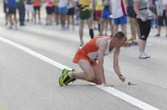 Odosobniony biegacz Zdjęcie Royalty Free