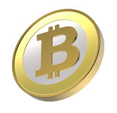 odosobniony bitcoin biel Zdjęcia Royalty Free