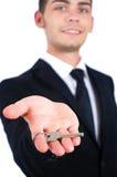 Odosobniony biznesowy mężczyzna Obraz Royalty Free