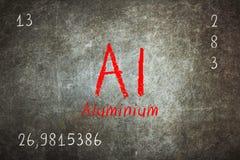 Odosobniony blackboard z okresowym stołem, aluminium Zdjęcia Royalty Free