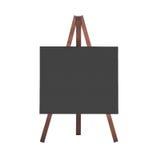 Odosobniony blackboard, znak lub signboard, fotografia stock