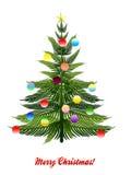 odosobniony Bożego Narodzenia drzewo ilustracja wektor