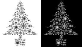 odosobniony Bożego Narodzenia drzewo Fotografia Royalty Free