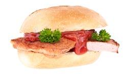 odosobniony bochenka mięsnej rolki biel Zdjęcie Stock