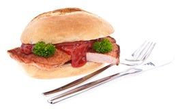 odosobniony bochenka mięsnej rolki biel Fotografia Royalty Free