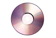 Odosobniony cd na bielu Zdjęcia Royalty Free