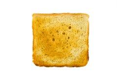 Odosobniony chlebowy plasterek na białym tle Zdjęcie Royalty Free