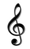 odosobniony clef treble ilustracja wektor