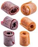 Odosobniony cukierki pureed owocowy pastila Obrazy Stock