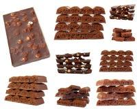 odosobniony czekolada biel Zdjęcia Royalty Free