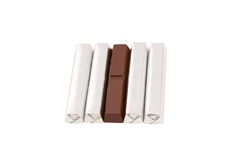 odosobniony czekolada biel Zdjęcie Royalty Free