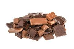 odosobniony czekolada biel bez cienia Zdjęcia Royalty Free