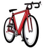 Odosobniony Czerwony bicykl - Wektorowa ilustracja Royalty Ilustracja