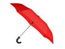 Odosobniony czerwony parasol Zdjęcia Royalty Free