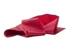 odosobniony czerwony tasiemkowy biel Zdjęcia Stock