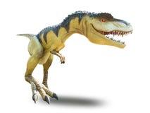 Odosobniony dinosaura model na bielu Obraz Stock