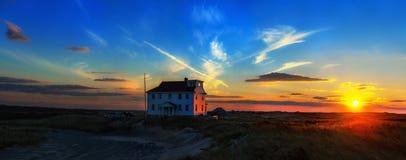 Odosobniony dom przy Cape Cod krajowym Seashore, Massachusetts, Provincetown USA Obraz Stock