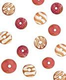 Odosobniony donuts wzór Fotografia Stock
