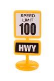odosobniony drogowego znaka zabawki biel Zdjęcia Royalty Free