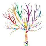 odosobniony drzewo Obraz Royalty Free