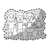Odosobniony dzieciak kreskówek projekt Obraz Royalty Free