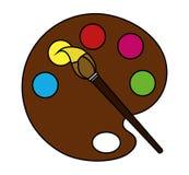 Odosobniony farby muśnięcia i palety projekt royalty ilustracja