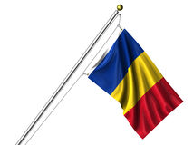 odosobniony flaga romanian Fotografia Royalty Free