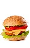 odosobniony hamburgeru biel zdjęcie stock