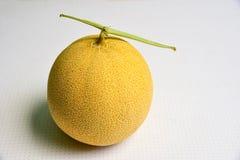 Odosobniony Japoński melon na Białym tle Fotografia Royalty Free