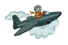 odosobniony jetplane pilota biel Fotografia Stock
