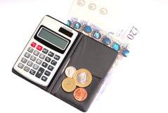 odosobniony kalkulatora pieniądze Obraz Royalty Free