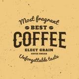 Odosobniony kawowy logo Retro stylowy logotyp Nowożytna chrzcielnica Kaligraficzny Writing Fotografia Stock