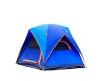 Odosobniony kopuła namiot na bielu Fotografia Stock