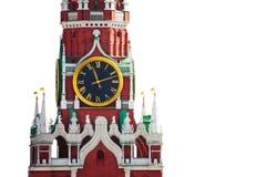 Odosobniony Kremlin zegaru widok na białym tle Obraz Royalty Free