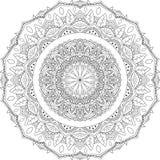 odosobniony kwiecisty mandala wektor ilustracji