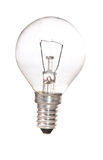 odosobniony lightbulb obraz stock
